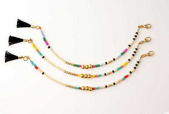 Amitié Bracelet Bracelet de perles or trois par feltlikepaper