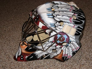 Custom Designed Hockey Goalie Mask Art, Airbrush Painting and Graphic Design - Don McClelland Designs