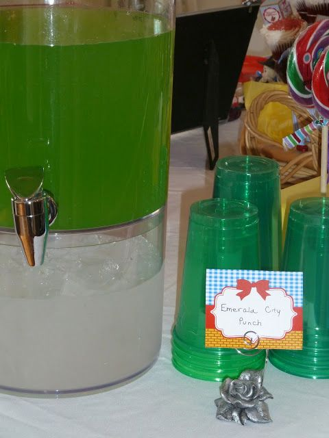 Emerald City Punch   Little Happies: Emerson's Wizard of Oz 2nd Birthday Party