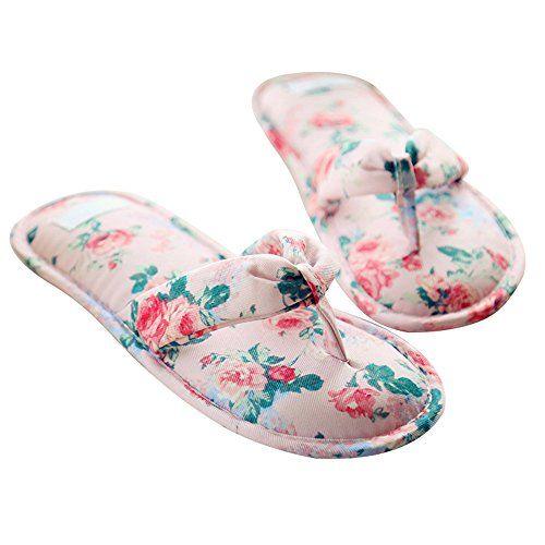 These floral #flipflops would bring comfort and style to your home. Easy slip-on and soft, they are the ultimate house #slippers to have around.  #fashion #sandals #womenfashion #beachsandals #shopping