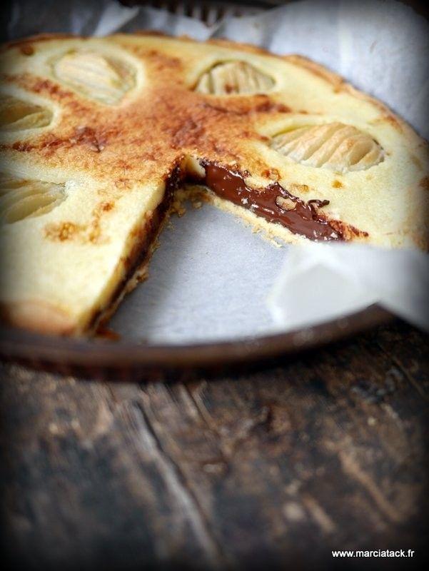 Une tarte aux poires gourmande et chocolatée …