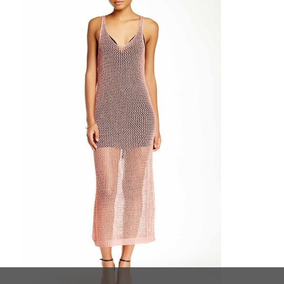Cute fish-net cover up. Gorgeous pink n' gold fish net cover up. Never been worn. L'atiste  Swim Coverups