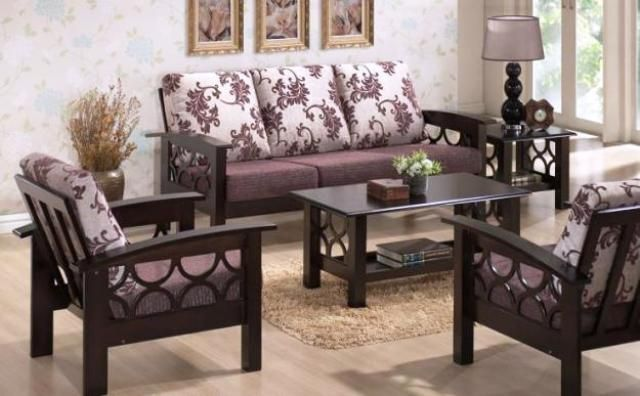 fine sofa set design with wood