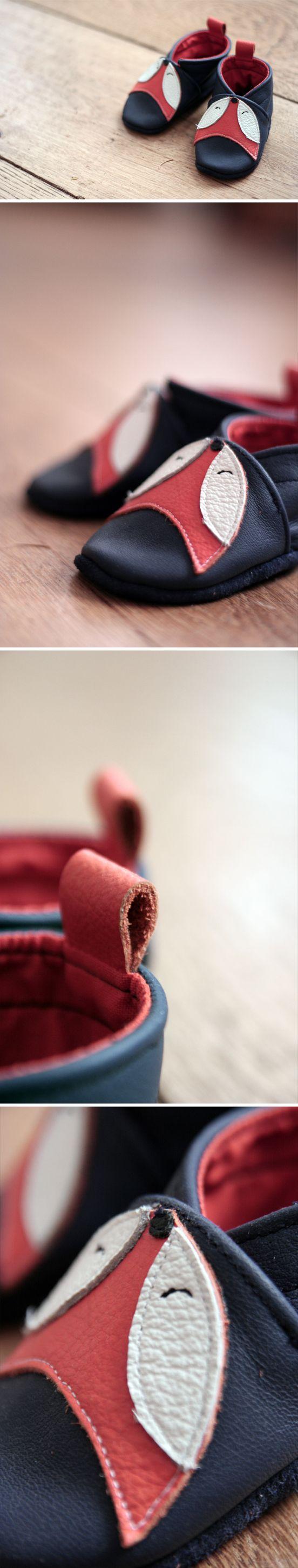 chaussons en cuir pour bébé