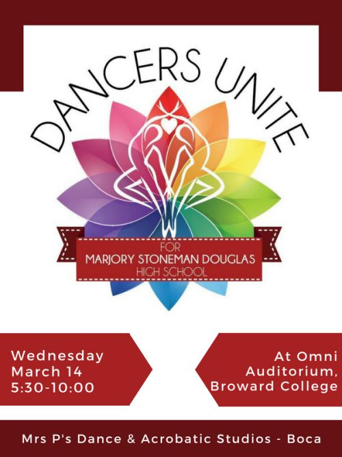 We will be performing at a benefit performance on Wednesday, March 14 for the victims and families of the tragedy that took place at MSD. It will take place from 5:30-9:30 at Omni Auditorium, Broward College. Tickets for this event are $10. All profits benefit Marjorie Stoneman Douglas High School. Please join this great event.  #MSDStrong