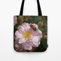Paul's Himalayan Musk with a bee. Tote Bag