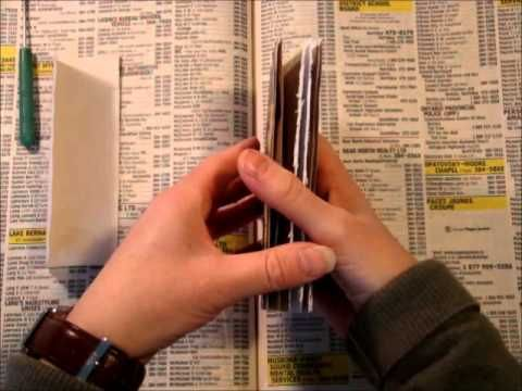 ▶ Easy 3-Hole Pamphlet Stitch - For Beginners - YouTube
