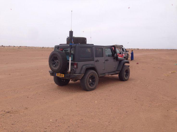 Met HI Q antenne mobiel in Marokko