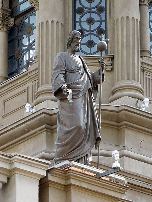 """Santiago el Mayor, sobre el presbiterio de la Catedral de Santiago.   Coordenadas: 33°26'16.22""""S 70°39'1.38""""W (Plaza de Armas de Santiago..."""