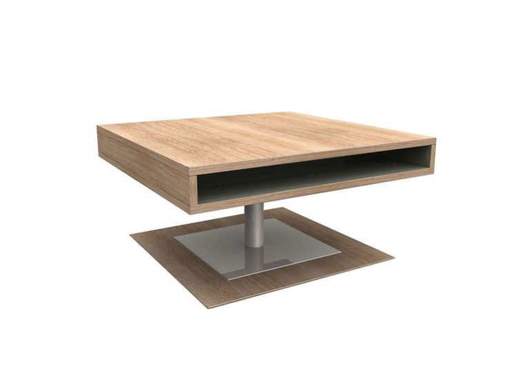 Table basse achatdesign achat table basse carr e avec pied central pia prix - Table carree 120x120 ...
