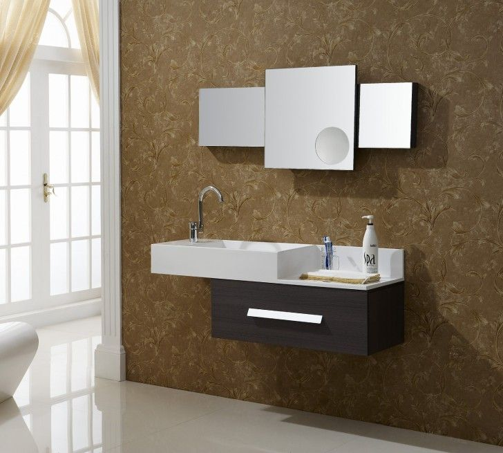 bathroom captivating modern bathroom vanities with aviateur wall mount and three square mirror also modern floating vanity sink with storage floating