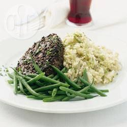 Pepper steak with leek mash @ allrecipes.co.uk