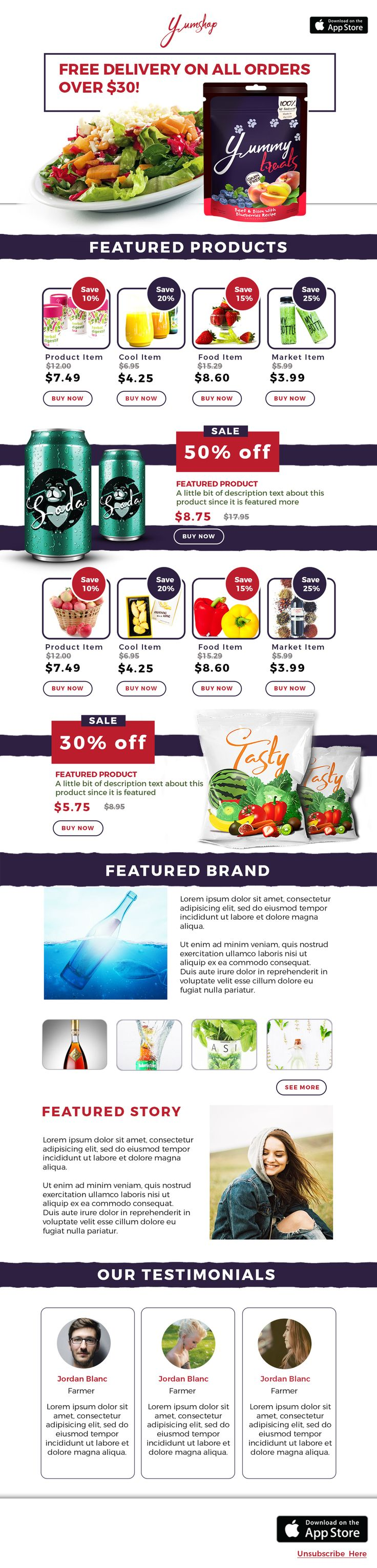 Best Stunning Email Newsletter Templates Images On