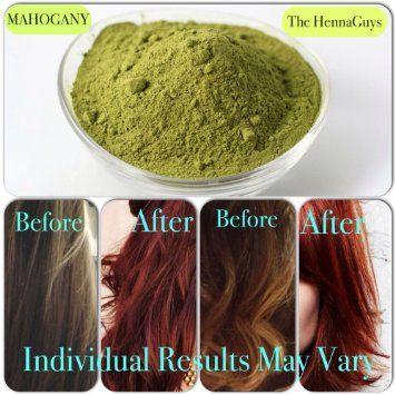 mahogany henna hair color dye 2x100 grams the henna guys - Henne Color Acajou