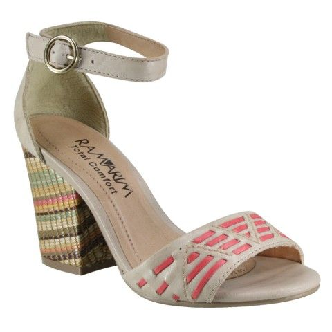 Sandália Ramarim Total Comfort 14-41203 - Amendoa/Goiaba (Soft Plus) - Calçados Online Sandálias, Sapatos e Botas Femininas | Katy.com.br