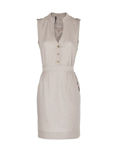 Linen cotton-blend shirt dress by Mango.