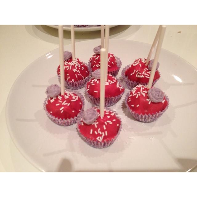 Cake pops Matildes dåp