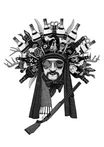 «Indian». Евгений Тонконогий. helloposter #poster #posters #art #modernart #printart #illustrators #illustration