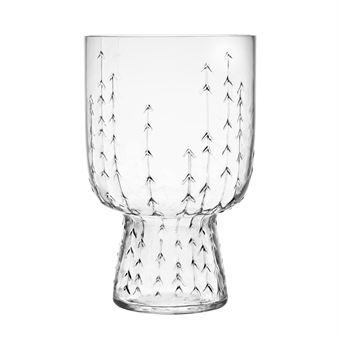 The sleek and easy to grip glass Sarjaton comes in a beautiful clear glass design that you can use to create your own