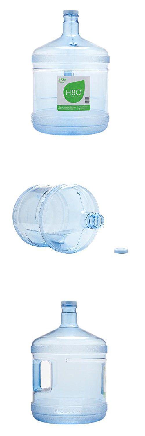 H8O Polycarbonate 3 gallon Stubby Water Bottle (with Handle) with 48mm Cap