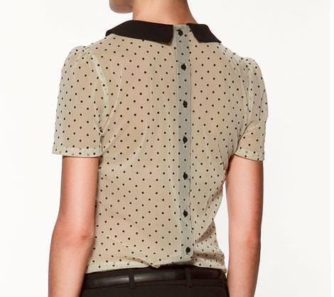 Blusas con cuellos bebé de Zara   demujer moda