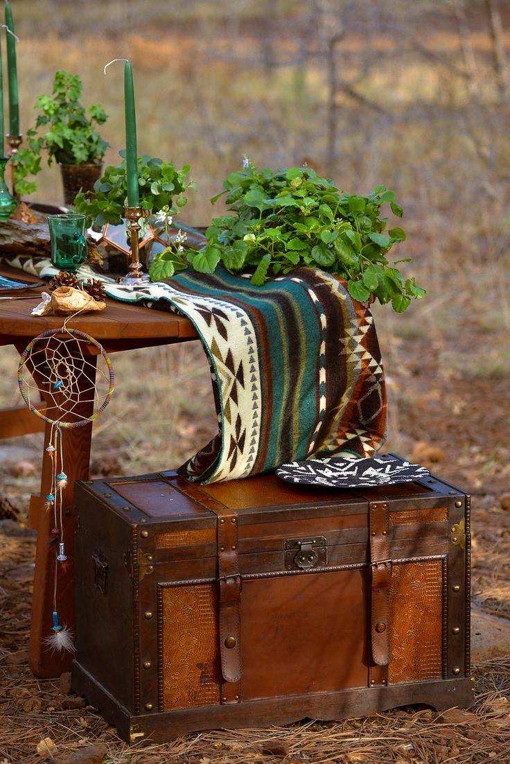 Eco wedding #emerald green# honeymoon table # forest wedding