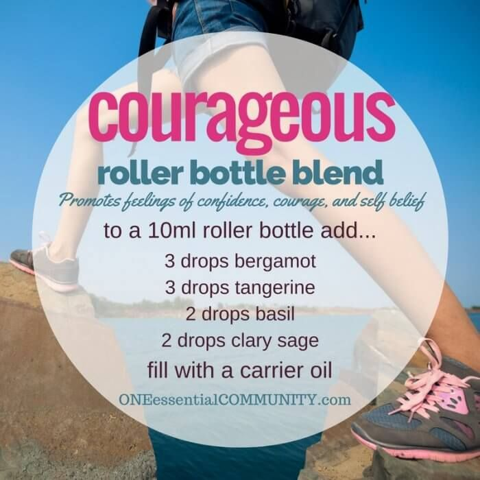 """""""courageou"""" roller bottle blend promotes feelings of confidence, courage, and…"""