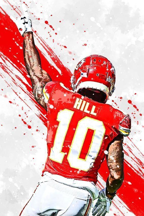 Tyreek Hill Kansas City Chiefs Poster Print Sports Art Etsy In 2021 Chiefs Wallpaper Kansas City Chiefs Logo Kansas City Chiefs