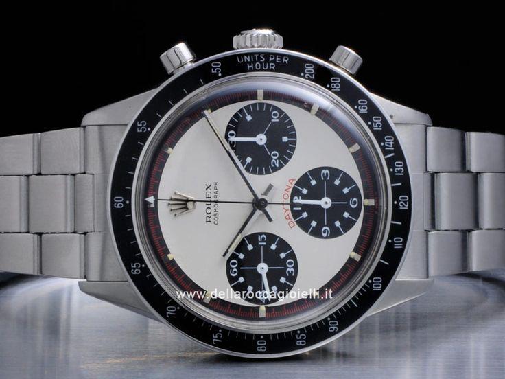 """Rolex Cosmograph Daytona Paul Newman - Ref. 6241 Quadrante """"Paul Newman"""" Cassa in acciaio 36mm Vetro plexiglass-tropic (vetro plastica) 25-21 Bracciale in acciaio Oyster a maglie ripiegate Movimento cronografo a carica manuale cal. 722"""