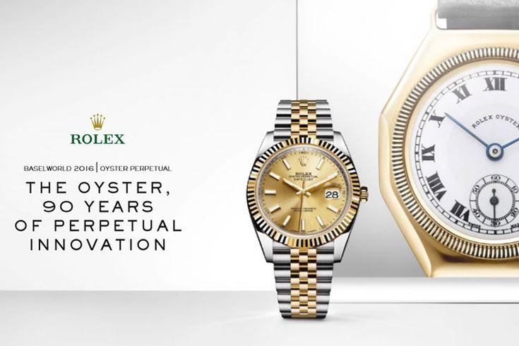 Nel 2016 Rolex celebra i novant'anni dell'Oyster, il primo orologio da polso impermeabile al mondo: un'innovazione che trasformò per sempre il concetto stesso di orologio.