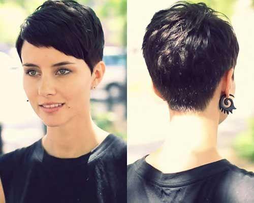 Brunette Pixie Hair