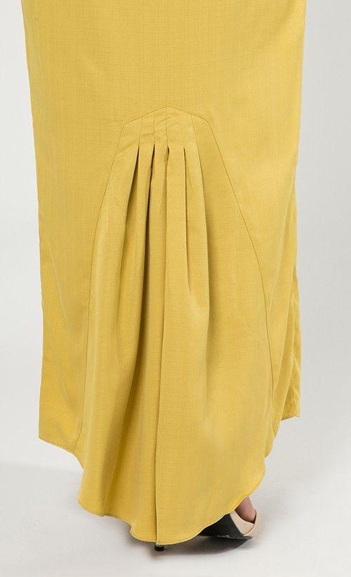 Mazel Modern Kurung Set in Yellow | FashionValet