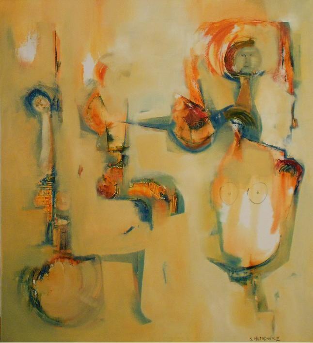 """""""Erótico"""" - Silvia Hilerowicz - Oleo sobre tela - 90 x 80 cm  www.esencialismo.com"""
