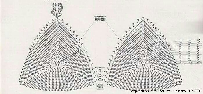 corpiño tejido al crochet - Buscar con Google