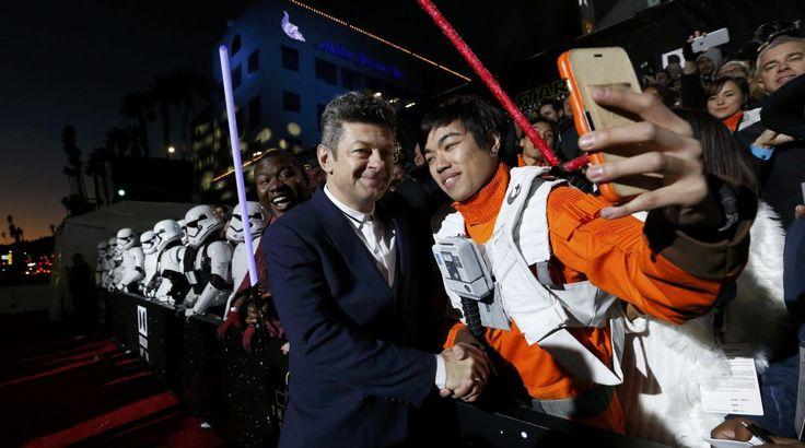 "Andy Serkins en el estreno mundial de ""Star Wars: the force awakens""."