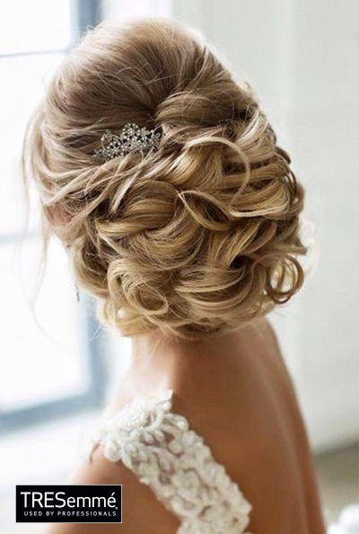 recogido elegante boda wedding hairstyle inspiration tresemmper