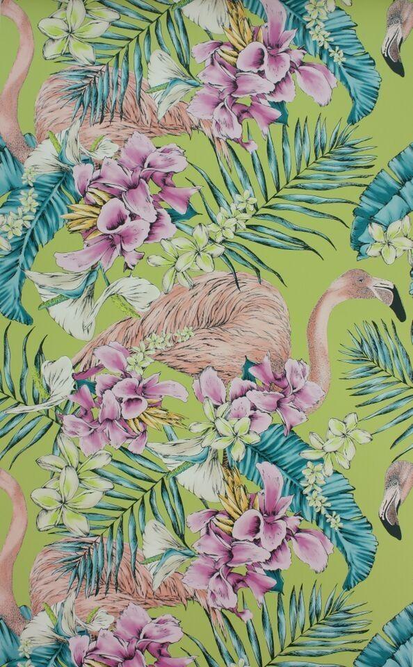 Osborne & Little - Matthew Williamson - Flamingo Club Wallpaper 10m Roll - Wallpaper & Decor