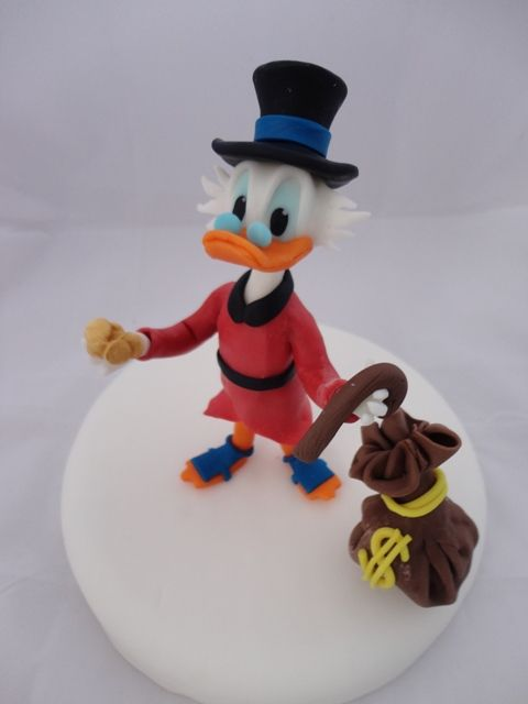 Scrooge McDuck Cake tio rico mcpato pastel tarta torta fondant tutorial italiano Italy ricette pasta di zucchero