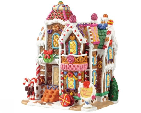 Lemax Sugar 'n Spice Christmas Village Collection - Molasses Manor!!! Bebe'!!! New village for me...never saw this one before...cute idea...Candy and Sweets and Gingerbread Theme!!!