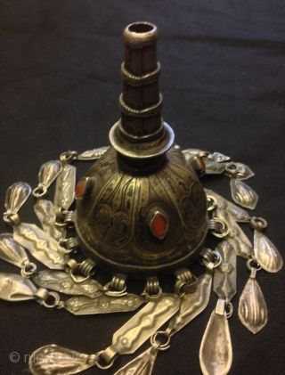 Vintage handmade turkmen silver jewelry     Weight: 120 grams     Heights: 16 cm    Fast shipping worldwide by fedex express,!!