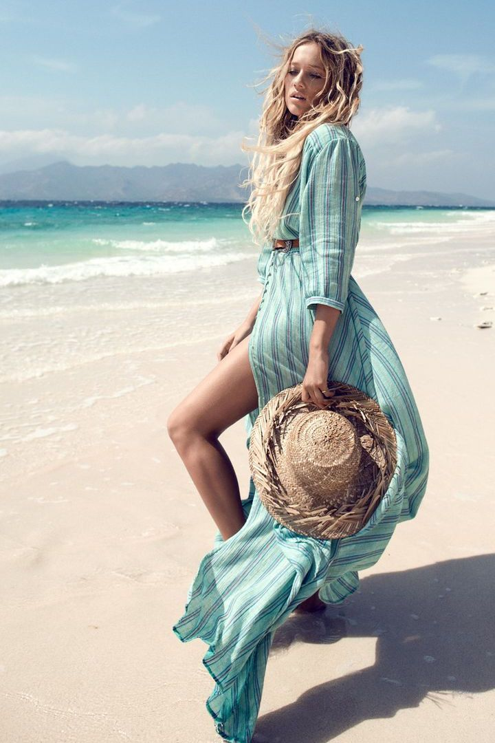 Spell Island boho gown in turquoise #soleilblue