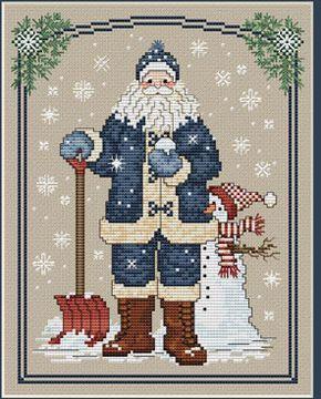 Snowflake Santa - Cross Stitch Pattern
