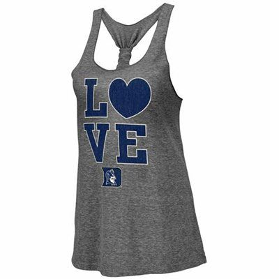NEW ARRIVAL: Duke Blue Devils Ladies Forget Me Knot Tri-Blend Tank Top