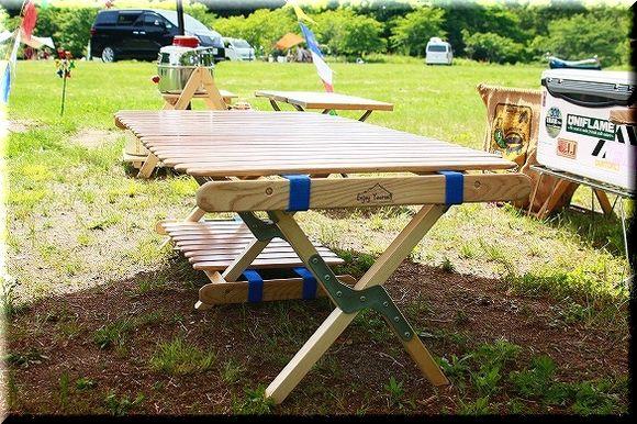 男キャンプだったはずが・・・。:自作 Byer風 ミドルロールトップ ... 「自作 Byer風 ミドルロールトップ Table」