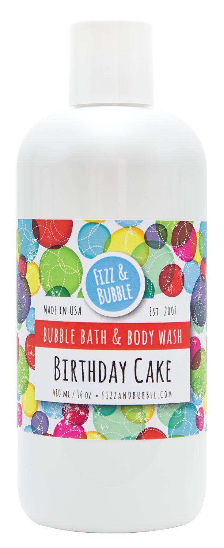 Notre bain moussant et gel douche Cake d'anniversaire crée une mousse mousseuse et crémeuse pour vous …   – Birthday cake!