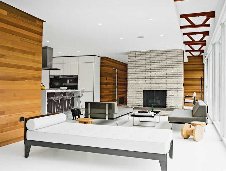 The midcentury spirit is alive and well in this hudson for Hudson valley interior design