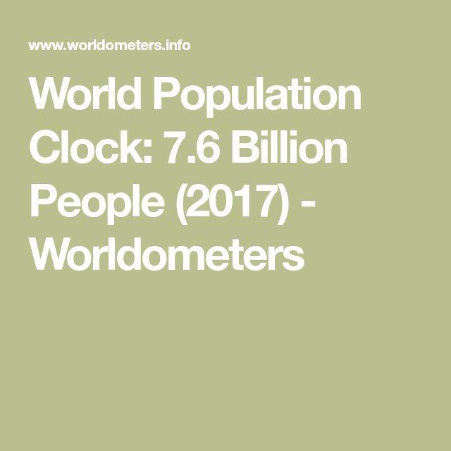 World Population Clock: 7.6 Billion People (2017) - Worldometers