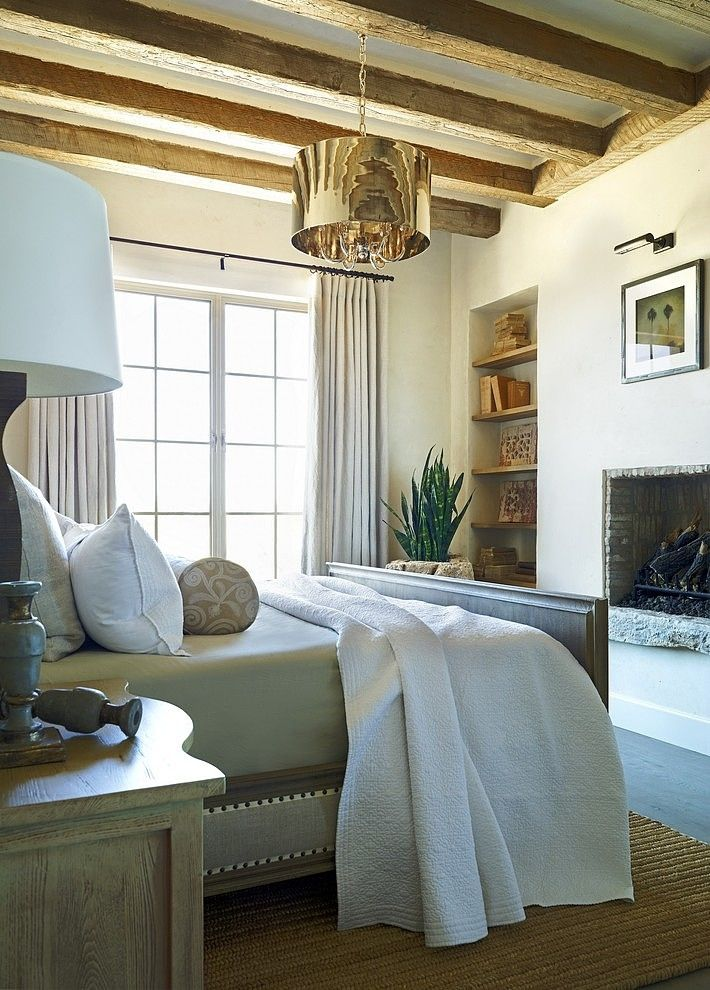 neutrals master bedroom, bedding and bed, rug
