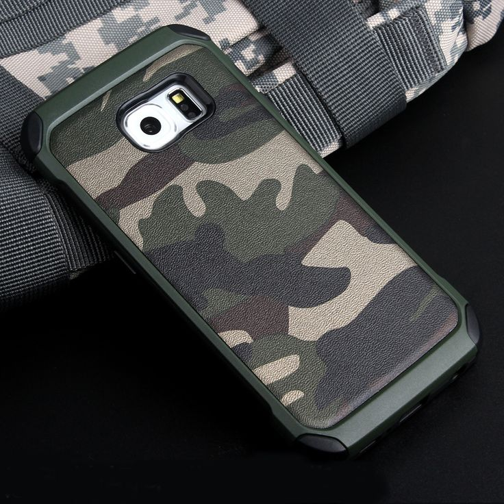 2 in 1 Army Camo Camouflage Pattern Back Cover Soft TPU Armor Protective Phone Case for Samsung Galaxy Grand Prime J5 S6 S7Edge