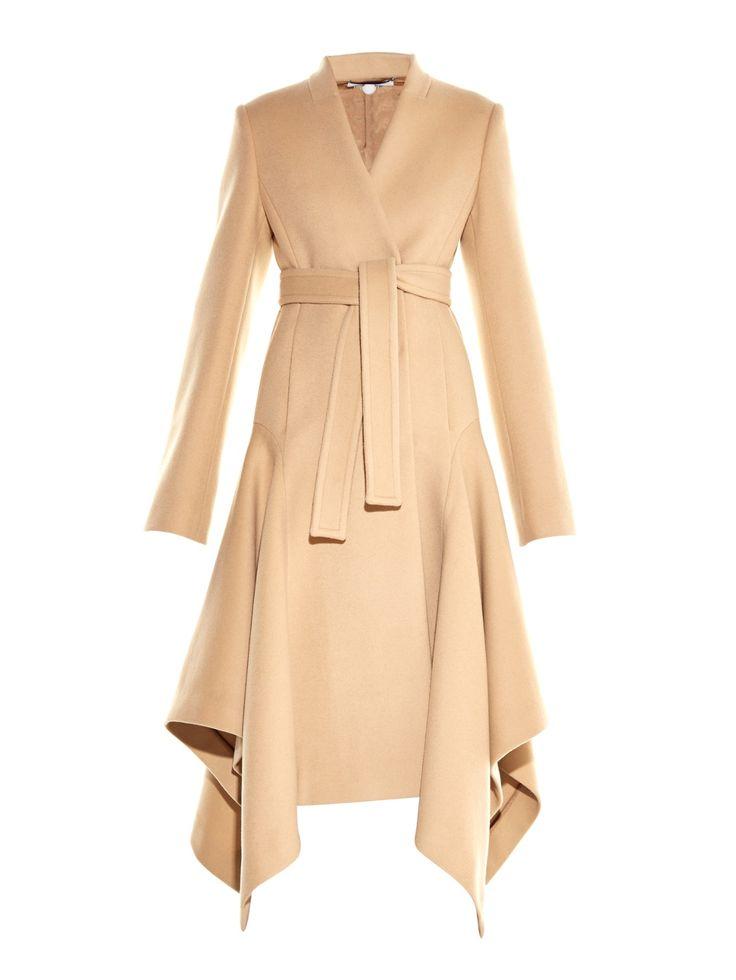 Claudine asymmetric-hem wool-blend coat | Stella McCartney | MATCHESFASHION.COM UK